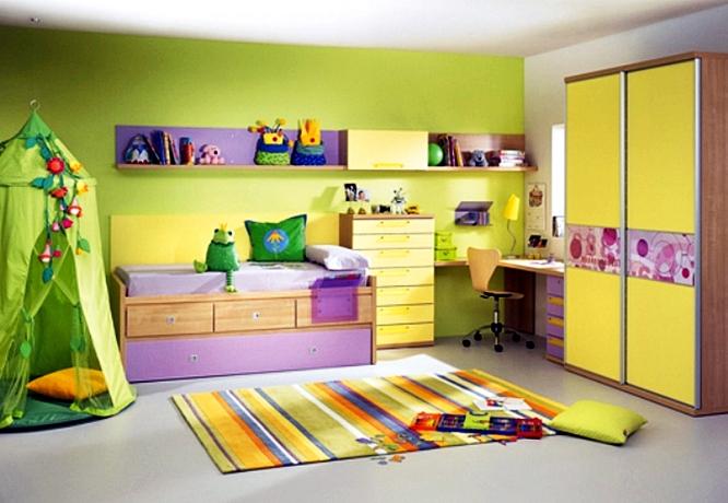 Цветовое оформление детской комнаты