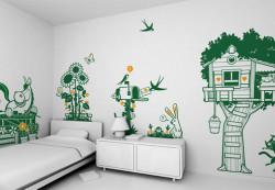 Как оформить стены в детской комнате?