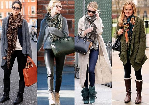 Шарфы и сумки, что с чем носить
