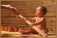 Закаливание ребенка в бане