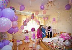 Воздушные шары на выписку из роддома с доставкой в СПб