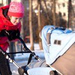 Как гулять с грудничком зимой