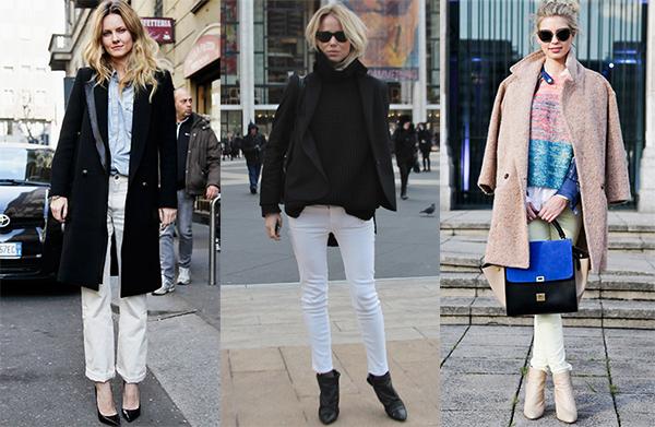 С какими вещами можно сочетать белые брюки?