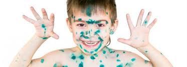 Чем отмыть кожу ребенка от зеленки после ветрянки